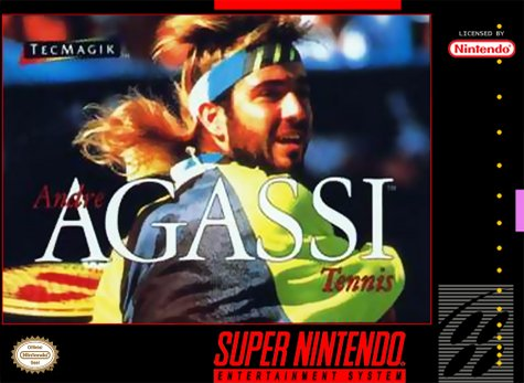 Andre Agassi Tennis Cover Art