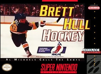 Brett Hull Hockey Cover Art