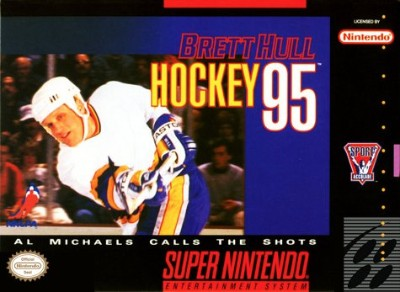 Brett Hull Hockey '95 Cover Art
