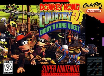 Donkey Kong Country 2: Diddy's Kong Quest Cover Art