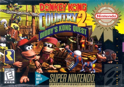 Donkey Kong Country 2: Diddy's Kong Quest [Player's Choice] Cover Art