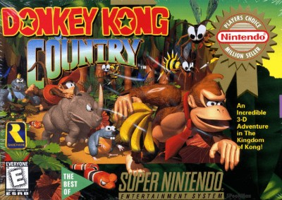 Donkey Kong Country [Player's Choice] Cover Art