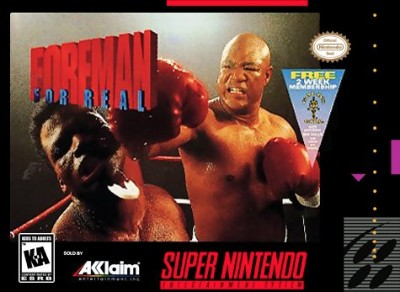 Foreman For Real Boxing Cover Art