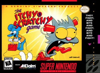 The Simpsons: Itchy & Scratchy Game Cover Art