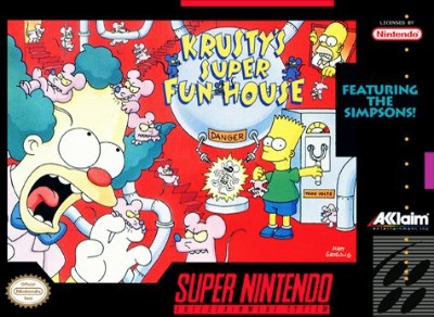 The Simpsons: Krusty's Super Fun House Cover Art
