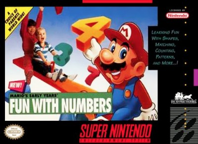 Mario's Early Years!: Fun with Numbers Cover Art