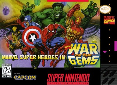 Marvel Super Heroes: War of the Gems Cover Art