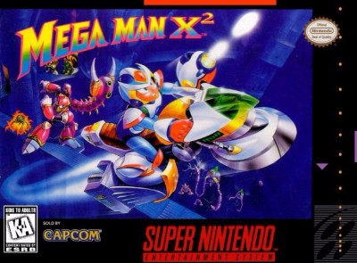 Mega Man X2 Cover Art