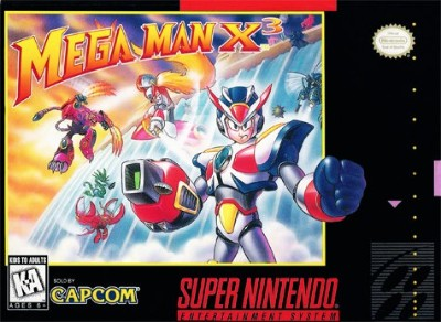 Mega Man X3 Cover Art