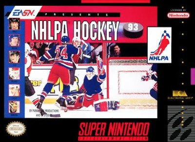 NHLPA Hockey '93 Cover Art