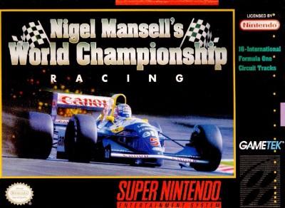 Nigel Mansell's World Championship Racing Cover Art