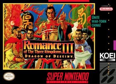 Romance of the Three Kingdoms III: Dragon of Destiny Cover Art