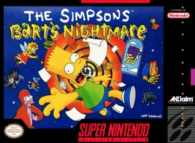 The Simpsons: Bart's Nightmare Cover Art