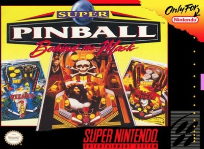 Super Pinball: Behind the Mask Cover Art