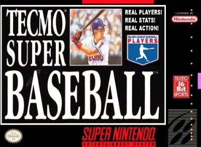 Tecmo Super Baseball Cover Art
