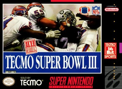 Tecmo Super Bowl III: Final Edition Cover Art