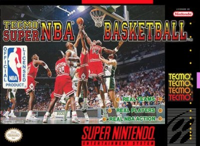 Tecmo Super NBA Basketball Cover Art