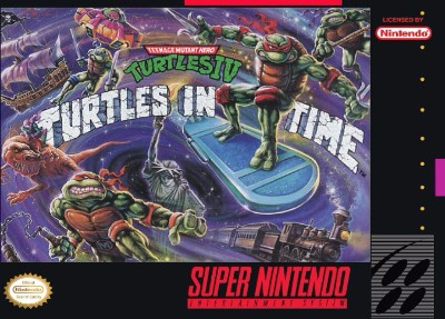 Teenage Mutant Ninja Turtles IV: Turtles in Time Cover Art