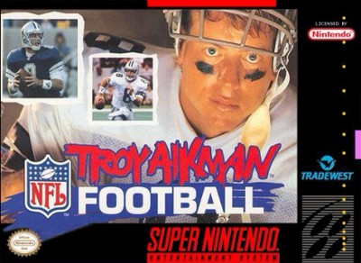 Troy Aikman NFL Football Cover Art