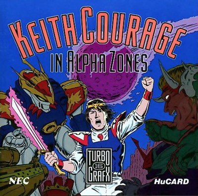 Keith Courage in Alpha Zones Cover Art