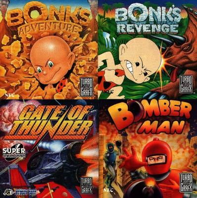 Gate of Thunder + Bonk's Adventure + Bonk's Revenge Cover Art