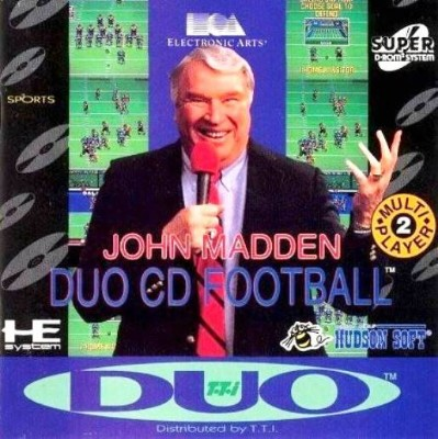 John Madden Duo CD Football Cover Art